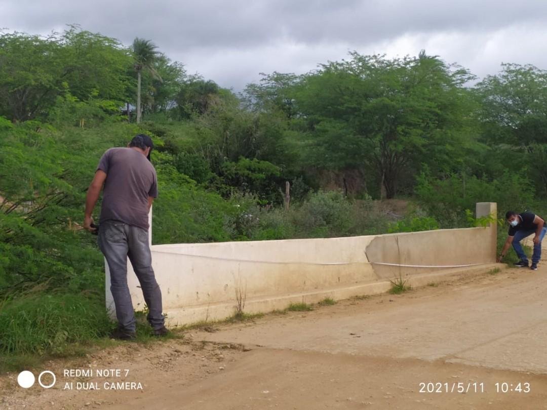 Seinfra faz levantamento topográfico para projeto de asfaltamento da estrada entre Mairi e Angico