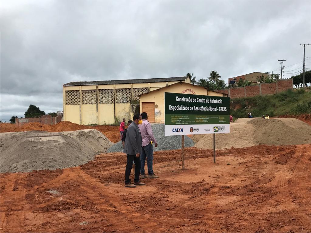 Prefeitura de Mairi dá início a construção do Centro de Referência Especializado de Assistência Social