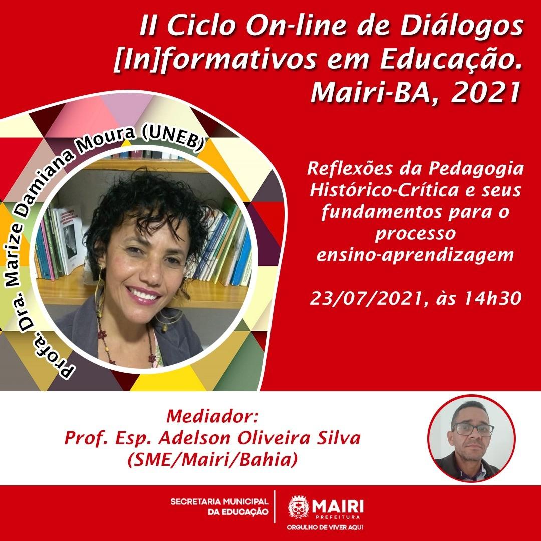 II Ciclo on-line de diálogos (in)formativos em educação nesta sexta (23)